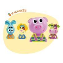 Ouaps - Figurines Jojo et ses amis : 4 figurines : Tropical