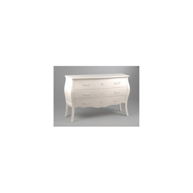 Hellin Commode Blanche Muriane Pas Cher Achat Vente Commode