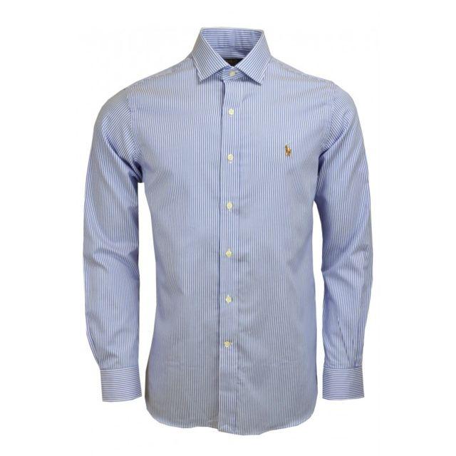 Ralph Lauren - Chemise basique Ralph Lauren rayée bleu et blanc polo player  couleur pour homme c6cb212c1b0a