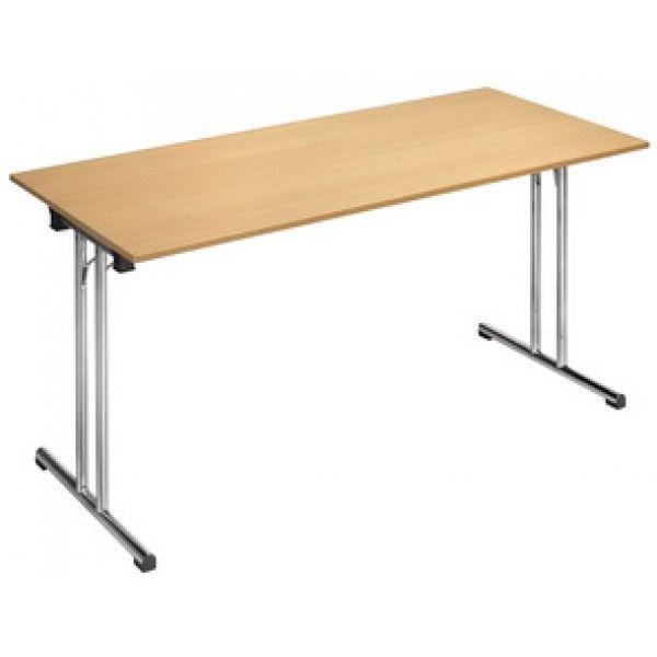 Sodematub Naudin Table pliante rectangulaire - 160 x 70 cm - hêtre