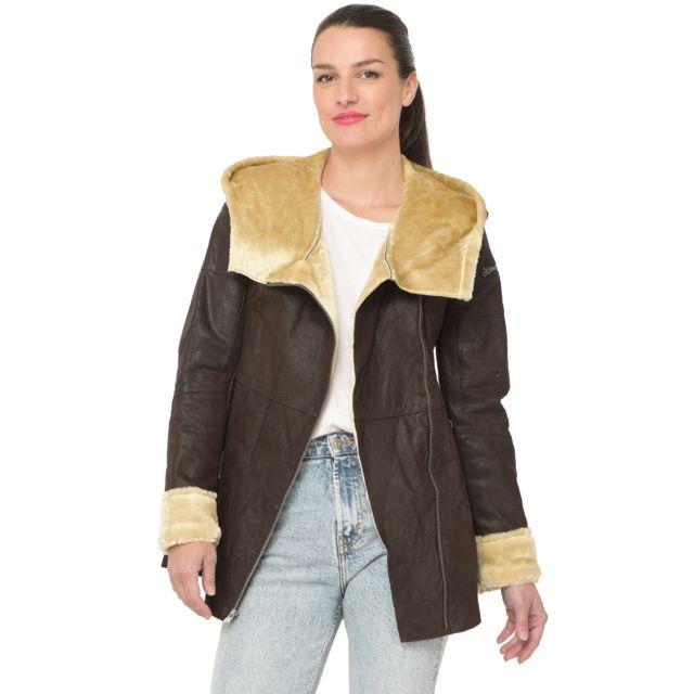 Isaco Manteau en velours de cuir