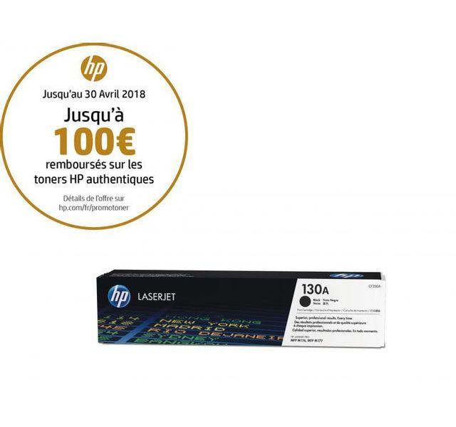 HP CF350A -Toner 130A Noir HP 130A Toner Noir authentique pour HP Color LaserJet Pro MFP M176n/177 fw