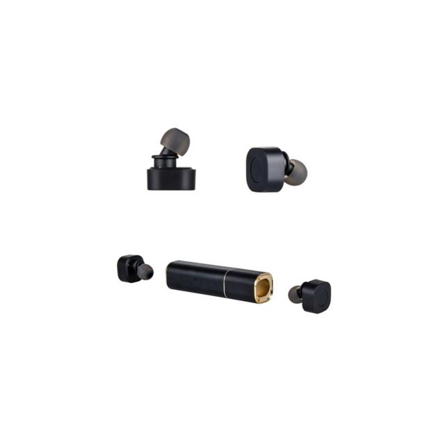 Auto-hightech Mini écouteurs avec son stéréo, Bluetooth et Power Bank - Noir