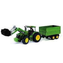 Bruder - Tracteur John Deere 7930 avec Fourche et Remorque