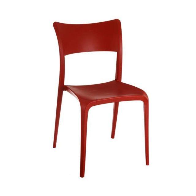 Lot de 2 chaises rouges Celeste L 54 x l 47.5 x H 87