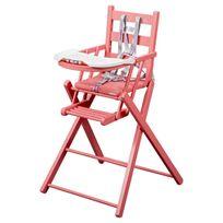 Combelle - Chaise Haute Extra-Pliante Sarah - Laqué rose