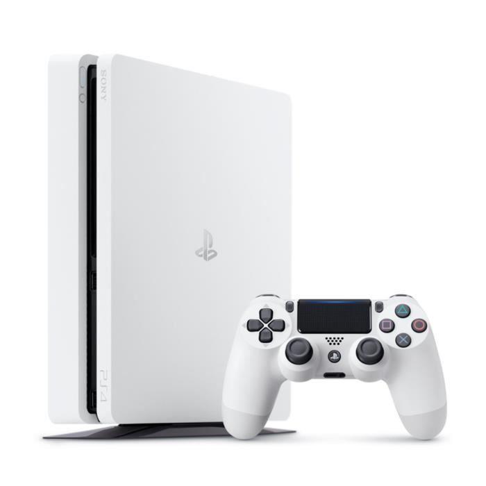 Playstation 4 Slim - 500 Go Blanche
