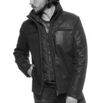Arturo - Blouson cuir Taille Homme - L, Couleur - noir
