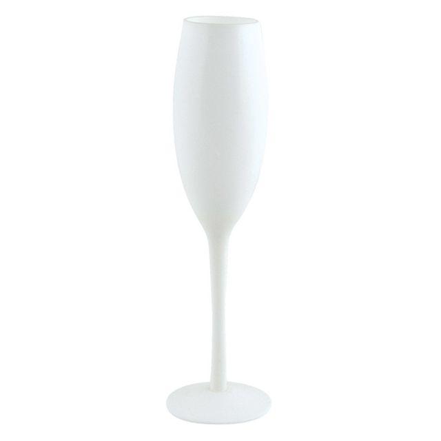 Salt Flûte à champagne en verre Blanc 19 cl Lot de 4, White