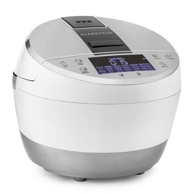KLARSTEIN Hotpot Cuiseur multifonction multicuiseur 23-en-1 950W 5L -blanc