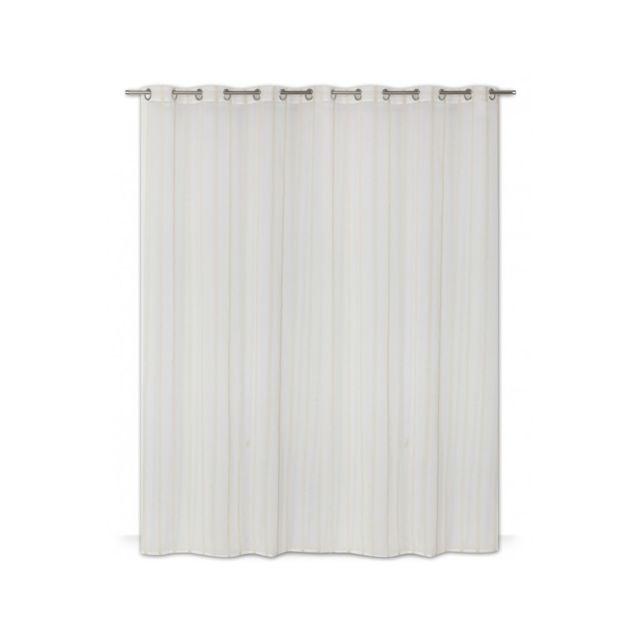 Rideaudiscount rideau voilage 280cm x 240cm style boh me grande largeur oeillets rayures - Rideau grande largeur pas cher ...