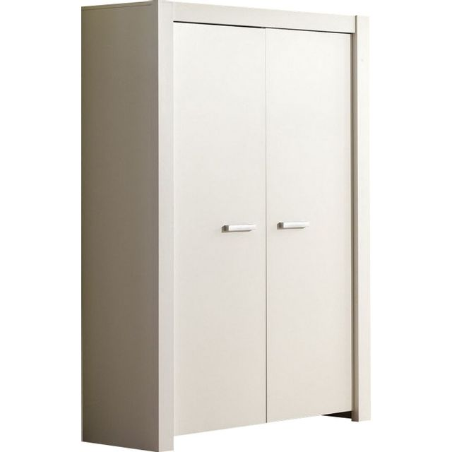 comforium armoire 2 portes pour b b coloris blanc. Black Bedroom Furniture Sets. Home Design Ideas