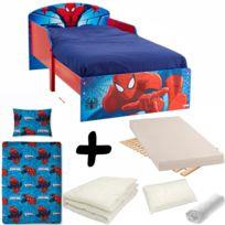 Pack complet Lit Spiderman Ptit Bed = Lit+Matelas & Parure+Couette+Oreiller