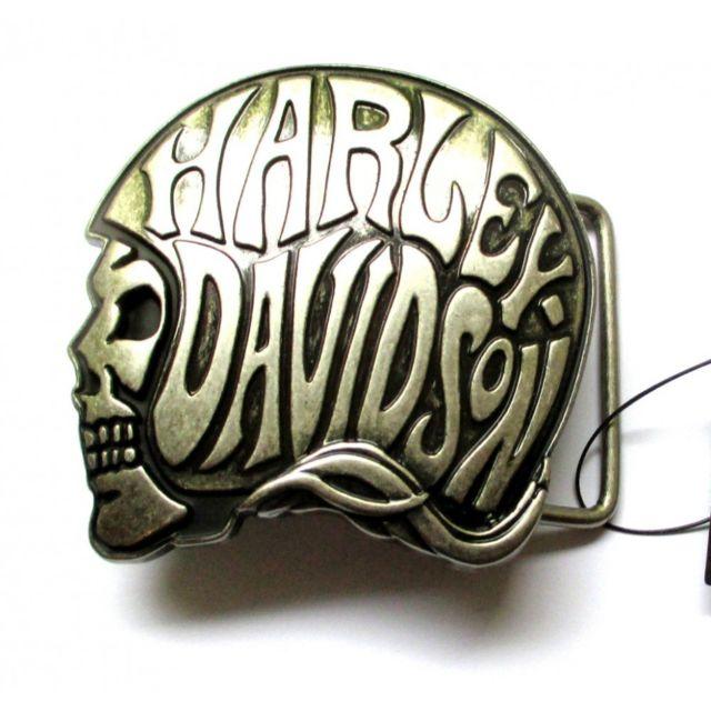 8502353b5e46 Universel - Boucle de ceinture harley davidson officiel logo casque de moto  avec inscription