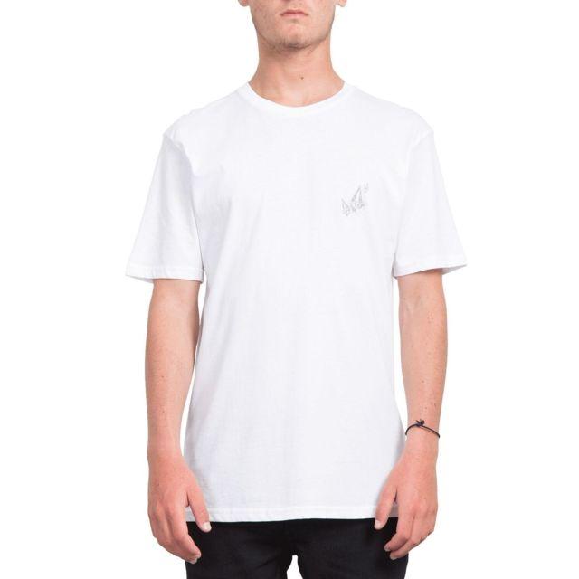 Volcom - T-shirt Lopez Web Blanc Homme -