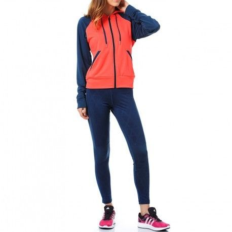 a910de2d1b626 Adidas originals - Survêtement Tight Hoody bleu Femme Adidas - pas ...