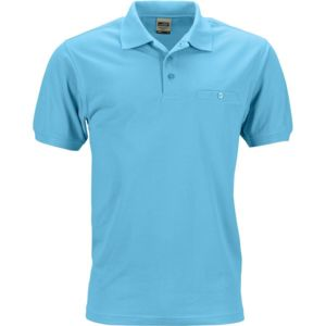 Polos James & Nicholson turquoise homme sWVML41Mp0
