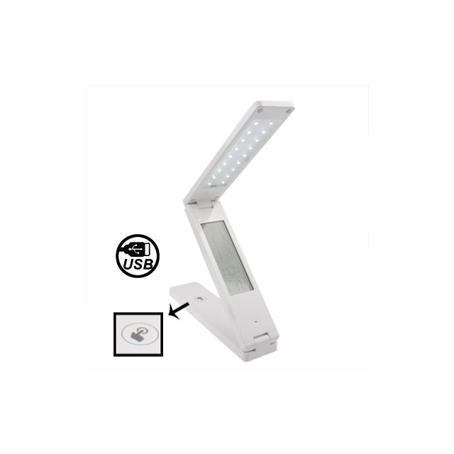 Blanc Tactile Lampe Bureau Led De Rechargeable Lampes Wewoo Pm0yNOv8nw