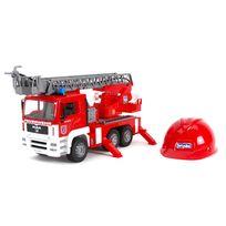 BRUDER - Camion de pompiers avec module électronique et casque - 01981