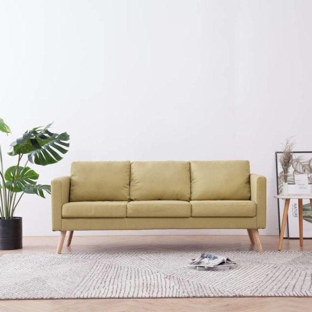 Distingué Meubles gamme Tbilissi Canapé à 3 places Tissu Vert