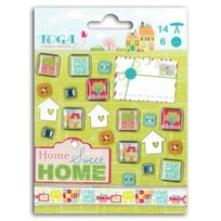 Toga - Lot de 21 embellissements Home sweet home