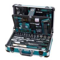 Satinum - Valise en aluminium haute qualité de 176 outils à main Sat111