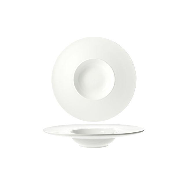 Cosy & Trendy Assiette à risotto ronde blanche 22cm - A l'unité - Rings