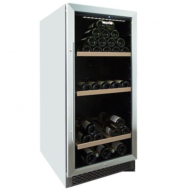 vinolux cave vin de vieillissement porte verre inox 156 bouteilles vxv150vxb pas cher. Black Bedroom Furniture Sets. Home Design Ideas