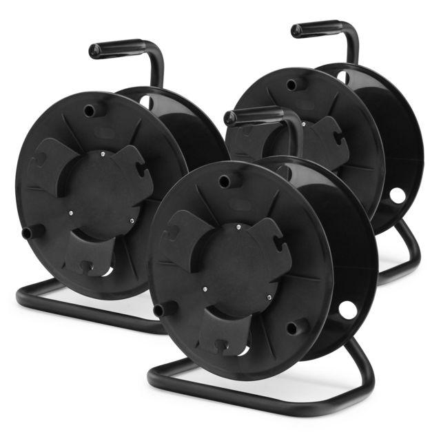 Pronomic Kt-100 tambour enrouleur de câble vide 3x set