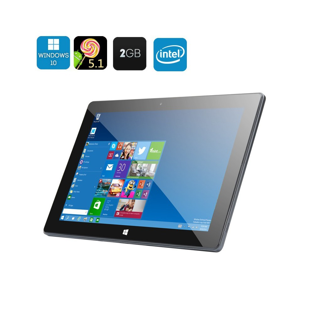 Tablette tactile 10,1 pouce windows 10 et Android 5.1 2Go de Ram, 64 Go