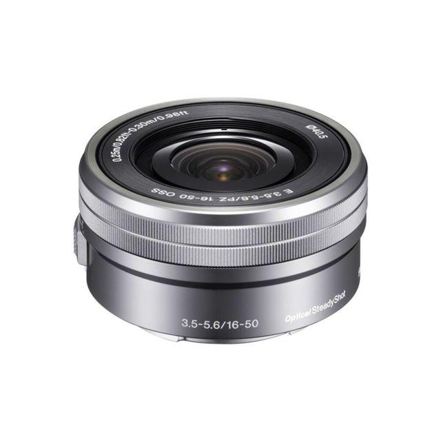Sony Objectif Sel E Pz 16-50 mm f/3,5-5,6 Oss Silver zoom motorisé