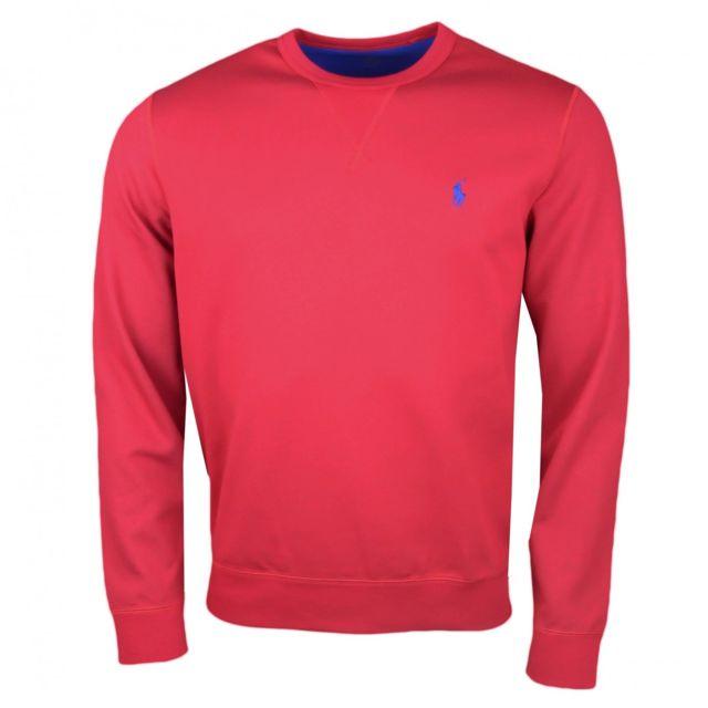 Ralph Lauren - Sweat col rond rouge pour homme - pas cher Achat ... 38672f9ac114