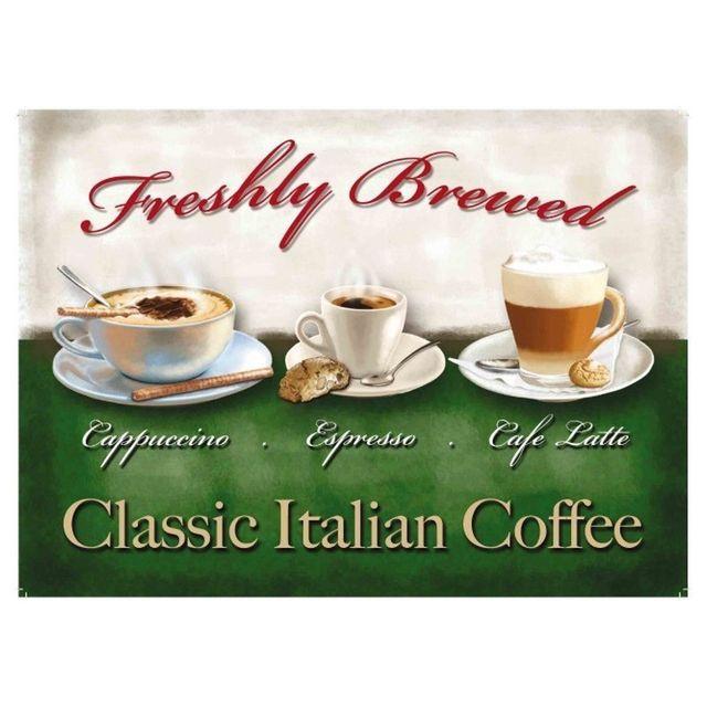Universel Plaque café italian coffee classic tole deco cuisine bar