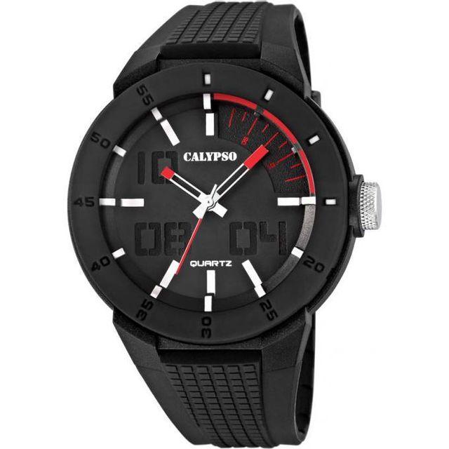 calypso montre k5629 2 montre sport noire homme achat vente montre analogique pas ch re. Black Bedroom Furniture Sets. Home Design Ideas