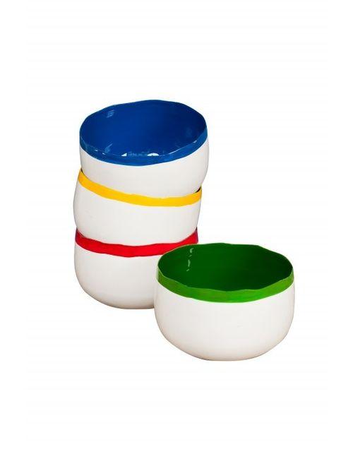 Decoshop 4 bols colorés mauriciens