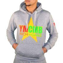 Ymcmb - Sweat à Capuche - Homme - Hs 55 Rasta - Gris