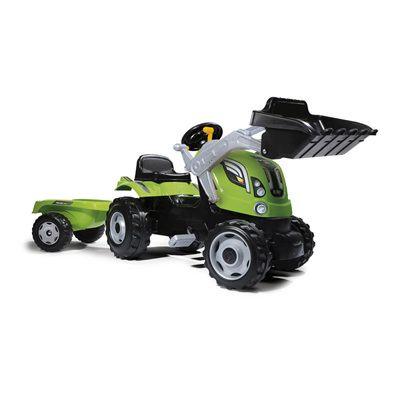 smoby tracteur farmer xl vache remorque vendu par 12791439. Black Bedroom Furniture Sets. Home Design Ideas