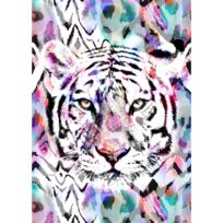 - Toile imprimée pailletée Tigre Watercolor 50x70cm
