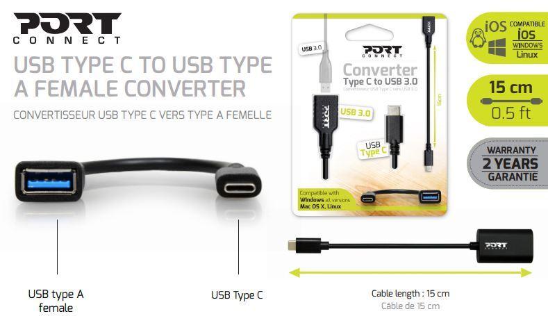 CONVERTISSEUR - TYPE C vers USB 3.0