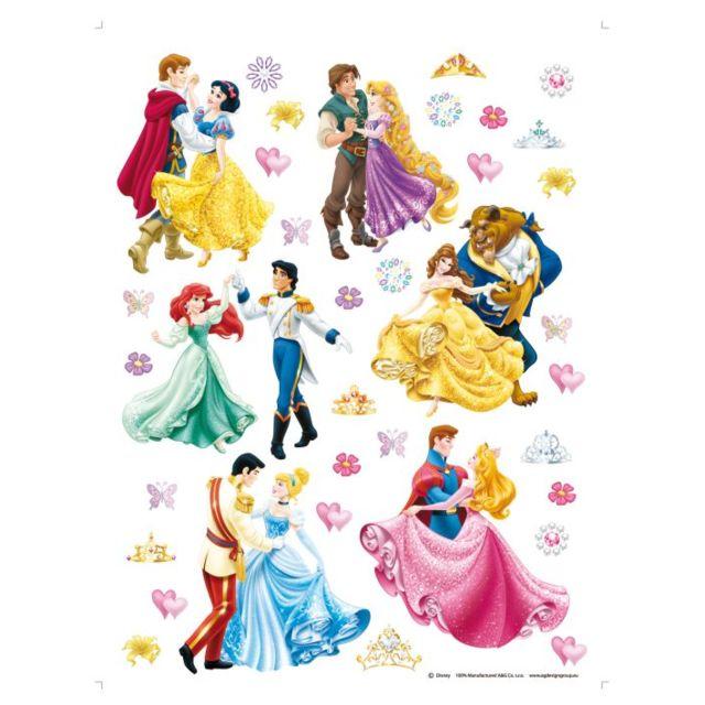 Bebe Gavroche 36 Stickers Geant Prince Et Princesse Disney