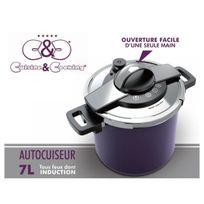 CuisineCooking - Autocuiseur 7 L. Inox Violet Cuisine & Cooking