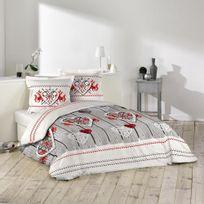 Douceur D'INTERIEUR - Housse de couette Sweet Dream 240x260cm avec taies d'oreillers 100% coton 57fils/cm²