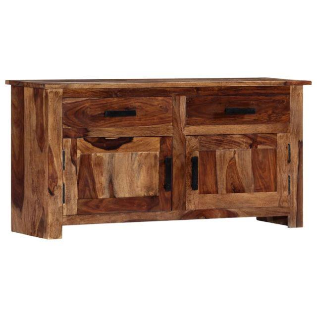 sublime Armoires & meubles de rangement gamme Port Moresby Buffet 100 x 30 x 50 cm Bois massif de Sesham