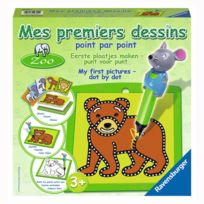 Ravensburger - Mes premiers dessins Point par point : Le zoo