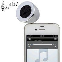 Yonis - Mini enceinte portable jack 3.5 Mp3 Smartphone Tablette Argent