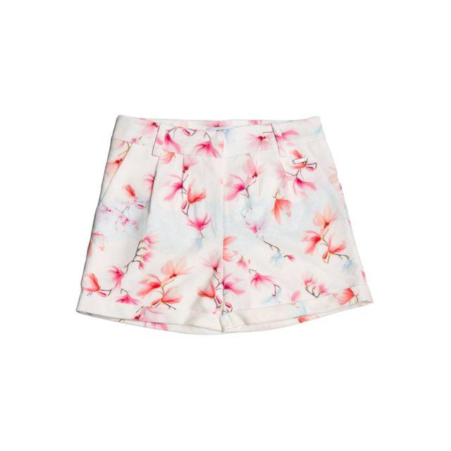 7909a95045753 Guess - Guess Short Fille Imprimé Fleurs Blanc/Multicolore - Taille - 16 ans