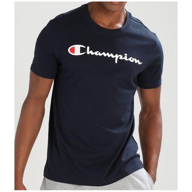 Champion T shirt 210972 Noir pas cher Achat Vente Tee
