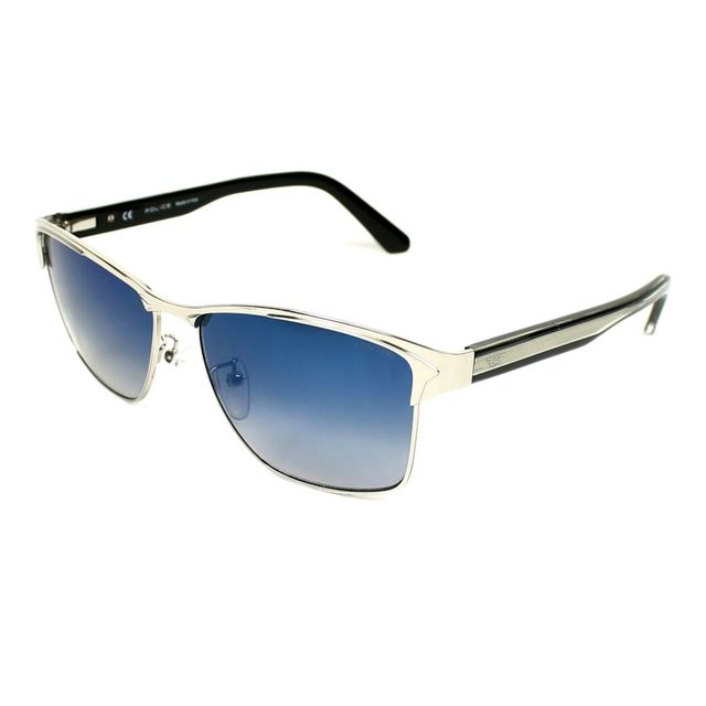 Police - Glider 2 S8851 579B Argent - Noir - Lunettes de soleil ... e6f93550e20a
