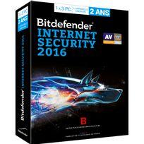BITDEFENDER - Internet Security 2016 - 2 ans - 3 postes