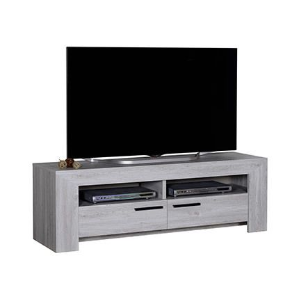 Meuble Tv 2 tiroirs bois naturel - Gregoria